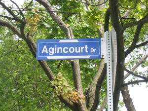 Agincourt Drive Sign