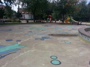 Leslie Grove Splashpad Closeup