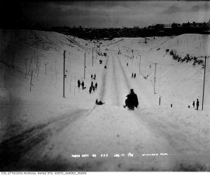 Withrow Park Sledding 1914