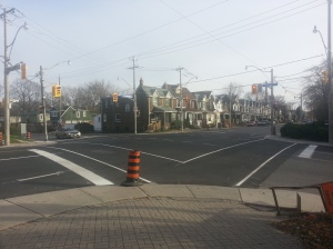 Greenwood Avenue and Dundas Avenue East