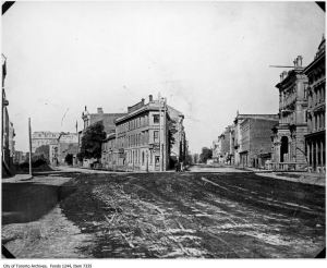 Coffin Block, Front and Wellington streets. - 1873