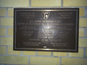 34. R.C. Harris Water Treatment Plant plaque