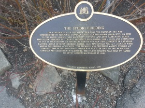 18. Studio Building Toronto plaque
