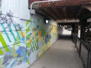3. Davenport Avenue underpass mural