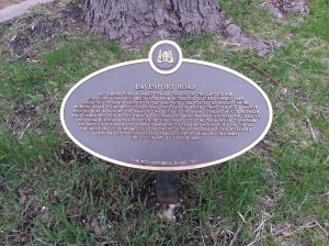 36. Davenport Road Plaque