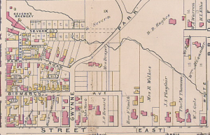 Goads Atlas 1884, Yorkville east of Yonge