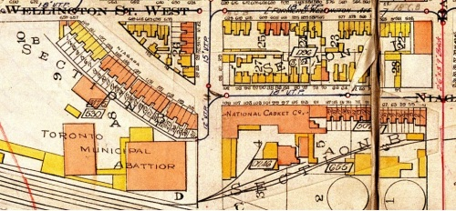 Goads Map 1924 Toronto Abattoir & National Casket Co.