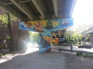 28. King Street East underpass art