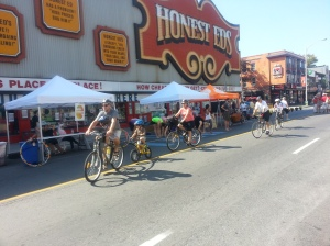 23. Open Streets TO Honest Ed's Cyclists Yoga