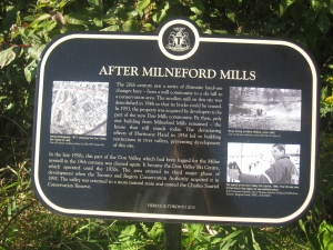 Heritage Toronto Milne Hollow Plaque 2