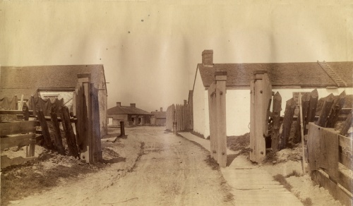 Fort York Western Gate, 1885. Source: Toronto Public Library.