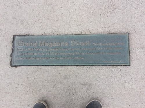 Grand Magazine Street plaque
