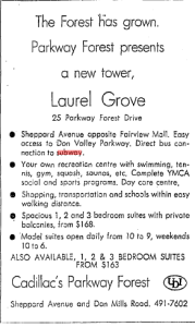 Parkway Forest Ad July 21 1972