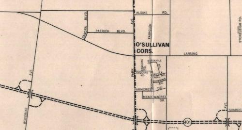 O'Sullivan's Corners, 1955.