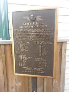 Rhoda Skinner Scarborough Pioneer