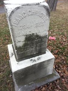 Christie's Methodist Cemetery Isaac Christie Isabella Graeme