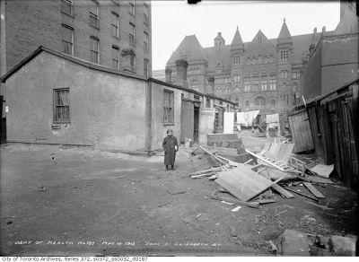 Rear of 21 Elizabeth Street 1913